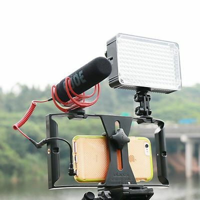 US Video Camera Cage Stabilizer Steady Handle Rig for iPhone Samsung Smart Phone