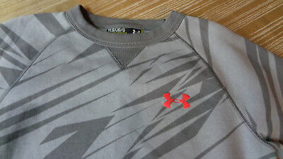 Under Armour Crew Neck Sweatshirt Sz Youth Large Gray w/Red - allseason- loose