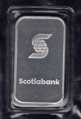 """Scotiabank - 1 Ounce .999 Fine Silver Bar """"SEALED"""""""