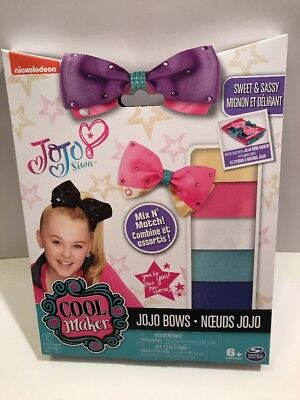 New In Box Cool Maker JoJo Siwa Bow Maker Kit MAKES 5 BOWS