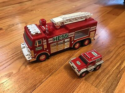 2005 HESS Emergency Fire Truck with Mini Rescue Vehicle Truck - Pre-Owned