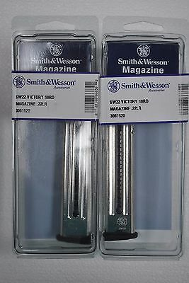 2 New Smith & Wesson Sw22 Victory 22Lr 10 Round Magazines