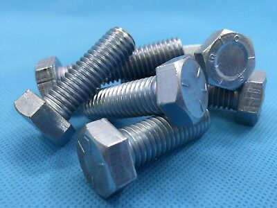 UNC 3/8 x 1.1/2 Hex Set Screw High Tensile Hexagon Head Fully Threaded x 2 Bolts