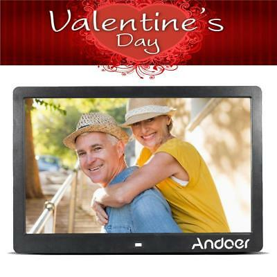 """Andoer 13"""" LED Digital Photo Picture Frame MP3/4 Movie Player Valentine's Gift"""