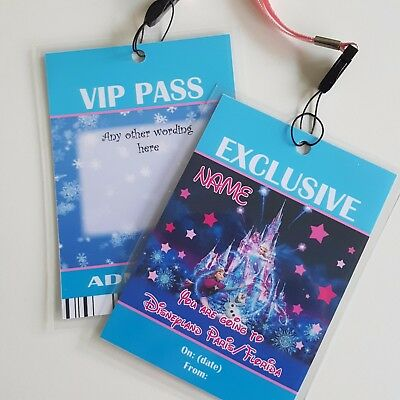 Personalised Disney FrozenChristmas Birthday VIP Gift Pass Lanyard - Any wording