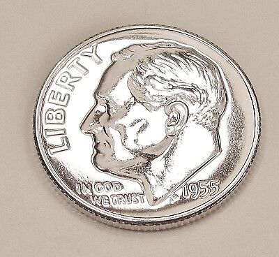 1955  Choice  Proof   Dime  90%  Silver  >Exact  Coin  Pictured <    #1218  7