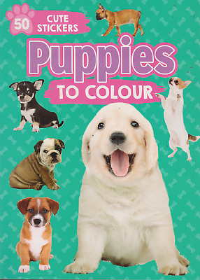 Puppies Colouring Book With 50 Cute Stickers