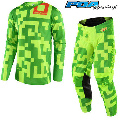 "2018 Troy Lee GP Maze Kit Combo Flo Yellow/Green 34"" Pant + X-Large Shirt"