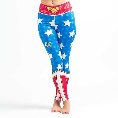 Fusion Fight Gear Wonder Woman Womens Spats - Blue - X-Large