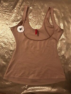 NEW SPANX Simplicity Open Bust Wear Your Own Bra Camisole Size Large Nude