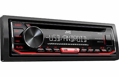 JVC KD-R490 Single DIN In-Dash Car Stereo w/ Bass Boost & Android Music Playback