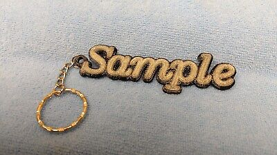 """PERSONALIZED 3D PRINTED NAME KEYCHAIN """"GLOW IN THE DARK"""" design014g key fob"""