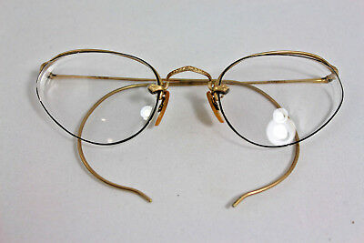B & L Vintage Frameless Cat Eye Wrap Around Personal Women's Eyeglasses