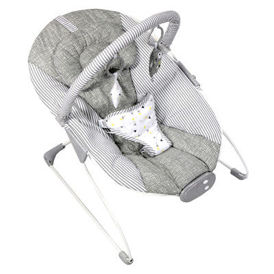 New Red Kite Grey Linen Baby Cozy Bouncer With Music And Toy Bar