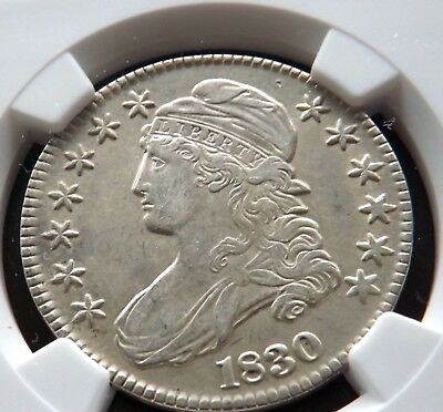 NGC Graded Extra-Fine 1830 (Small-O) Capped Bust Half-Dollar-A Nice Example
