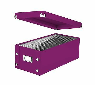 "Snap-N-Store DVD Storage Box 6"" x 8.25"" x 16.5"" Berry (SNS03319) Single Pack"