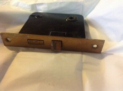 VINTAGE SARGENT BRASS MORTISE LOCK -EASTY SPRING for CLOSET DOOR (8331-B)