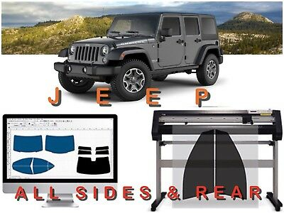 Jeep Precut 2Ply All Sides & Rear Window Tint Kit With 3 Years Warranty