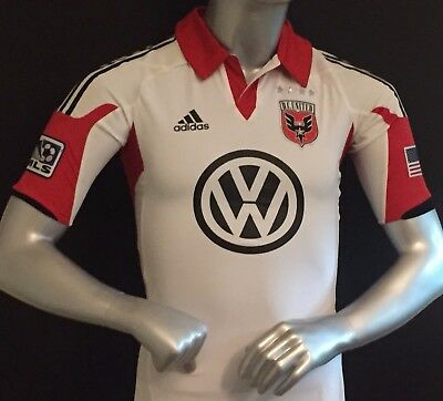 64705880aec jersey shirt adidas techfit player issue DC united MLS 2012 2011 short  sleeve po