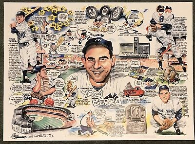 Yogi Berra Limited Edition Tribute Print (Artist Signed  & Numbered)