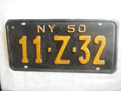1950 New York License Plate Tag