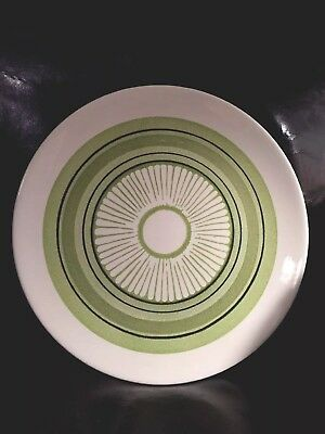 Taylor, Smith & Taylor GREEN SPAN Chop Plate/Round platter 12 3/8 in.