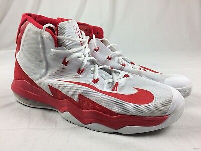 7219185436f NIKE AIR MAX Audacity 2016 - Red White Basketball Shoes (Men s 17 ...