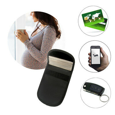 Mobile Cell Phone RF Signal Blocker Anti-Radiation Shield Case Pouch Black