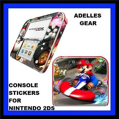 For Nintendo 2Ds Console  Case Stickers Or Skins Mario Kart Design