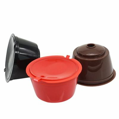 3 Pack Dolce Gusto Refillable Coffee Capsules Reusable Coffee Pods Filters C1T0