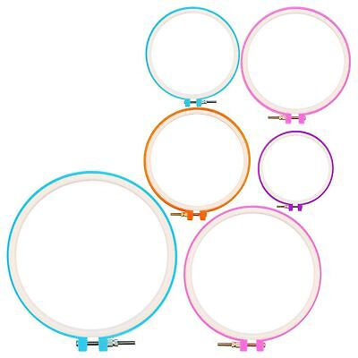 6 Pieces Embroidery Hoops Cross Stitch Hoop Embroidery Circle Set for DIY A R3Q4