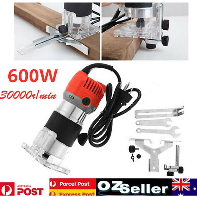 220V Wood Trim Router Laminate Trimmer 600W 30000RPM Woodworking Power Tool Set