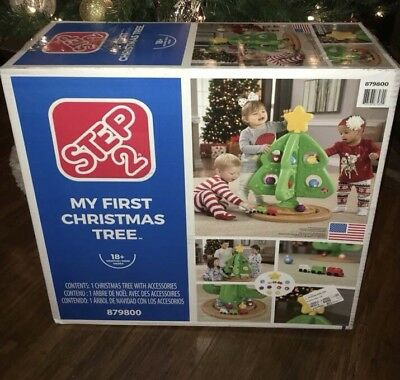 Open Box Step2 Child Play My First Christmas Tree with Ornaments /& Trains