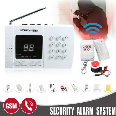 Home Security Burglar Alarm System Auto Dialer Call 433MHz PIR Infrared Detector