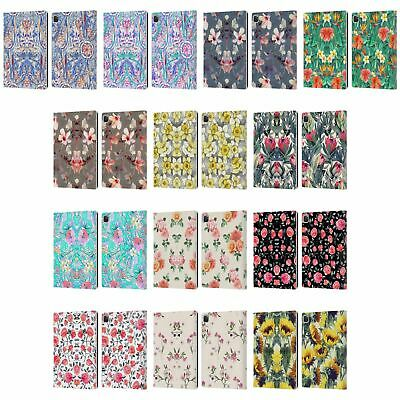 OFFICIAL MICKLYN LE FEUVRE FLORALS LEATHER BOOK WALLET CASE COVER FOR APPLE iPAD