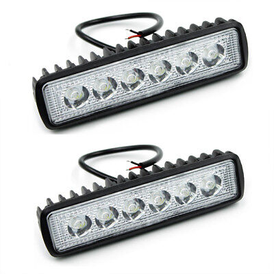 2X 6 Inch 18W Led Work Light Bar Spot Beam Offroad Driving Fog 4Wd Lamp Ute Suv