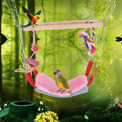 Colorful Parrot Swing Bird Toy Climbing Bed Toys For Parakeet Cockatiel Budgie