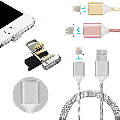USB Charger Charging Cable For Apple iPhone Samsung Braided Magnetic Lightning