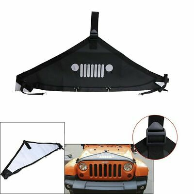 Balck Hood Cover Front End Bra Protector V-Hood Covers For Jeep Wrangler 07-2017