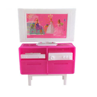 1 6 Scale Plastic Tv Stand Cabinet For Barbie Doll 39 S House Dollhouse Furniture K Cad