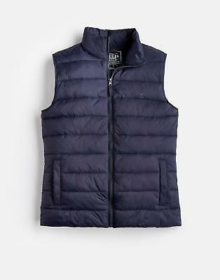 Joules 124665 Go to Mens Lightweight Gilet with Hem Adjusters in Marine Navy
