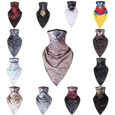 Mens Outdoor Sport Balaclava Animal 3D Printed Scarves Motorcycle Ski Face Mask