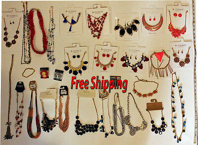lot of 30 pieces Fashion jewellery  necklace pin broach large,tags FREE SHIPPING