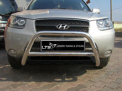 Chrome Nudge A-Bar Stainless Steel Bullbar Fit For Hyundai Santa Fe 2006-2012 Wk