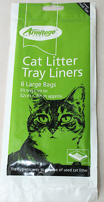 Armitage Large Cat Litter Tray Liners Bags Hygienic Way To Dispose 52x40cm