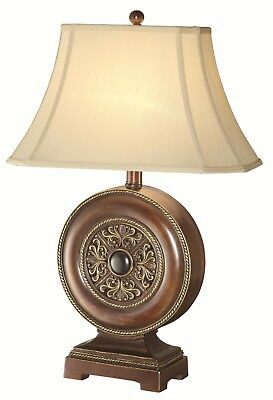 """Casual Beige Fabric Shade Accent Table Lamp 150"""" Watts Single-Light Lamp Bedroom"""