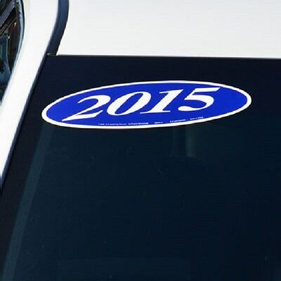 Car Dealer Windshield Oval Model Year Stickers 4 Digit Green and Black 05-18