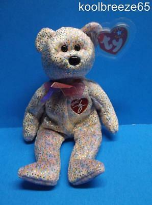 Ty Beanie Baby 2001 SIGNATURE Bear Plush Toy Hang Tag Sparkle Stuffed Animal