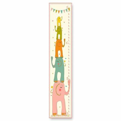 Stupell Elephants Stack and Colorful Banner Growth Chart