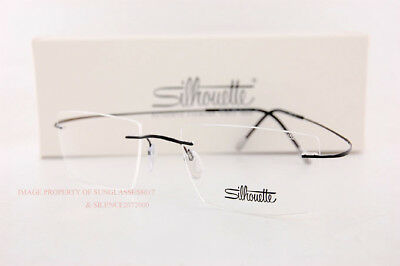 d184240080f5f New Silhouette Eyeglass Frames TMA Must Collection 5515 CL 9040 Black Titan  52